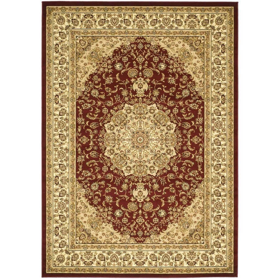 Safavieh Lyndhurst Nain Red/Ivory Rectangular Indoor Machine-made Oriental Area Rug (Common: 6 x 9; Actual: 6-ft W x 9-ft L)