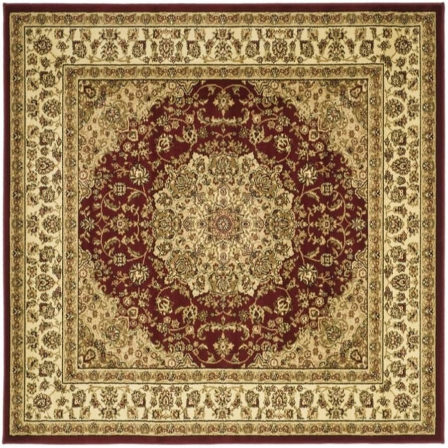 Safavieh Lyndhurst Nain Red/Ivory Square Indoor Oriental Area Rug (Common: 6 x 6; Actual: 6-ft W x 6-ft L)