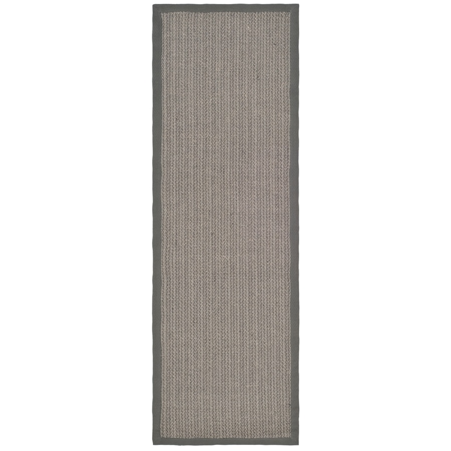 Safavieh Natural Fiber Atlantique Gray Brown/Gray Rectangular Indoor Machine-made Coastal Runner (Common: 2 x 18; Actual: 2.5-ft W x 18-ft L)