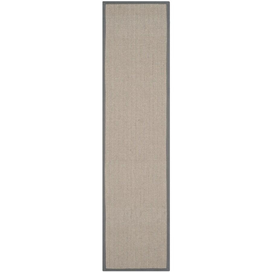 Safavieh Natural Fiber Atlantique Gray Brown/Gray Indoor Coastal Runner (Common: 2 x 22; Actual: 2.5-ft W x 22-ft L)