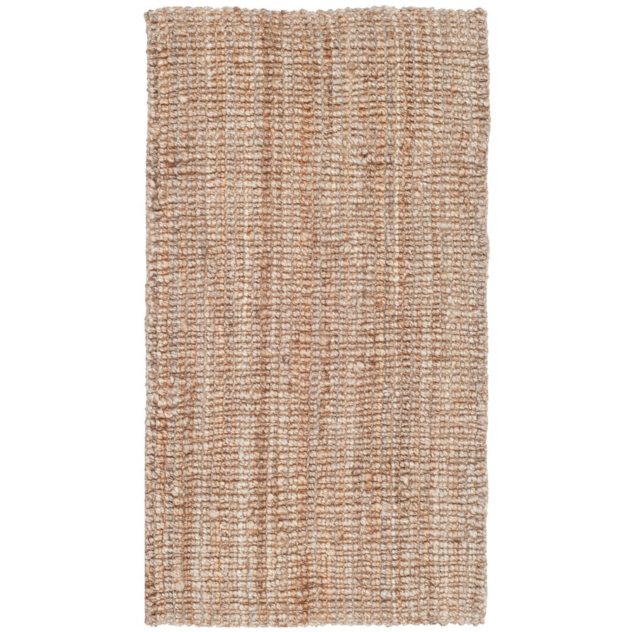 Safavieh Natural Fiber Bellport Natural Indoor Handcrafted Coastal Throw Rug (Common: 2 x 4; Actual: 2.5-ft W x 4-ft L)