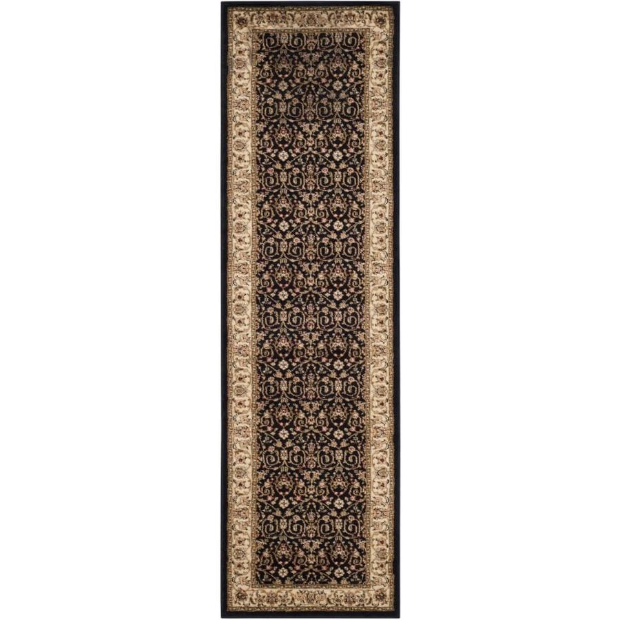 Safavieh Lyndhurst Antoinette Black/Ivory Indoor Oriental Runner (Common: 2 x 6; Actual: 2.25-ft W x 6-ft L)