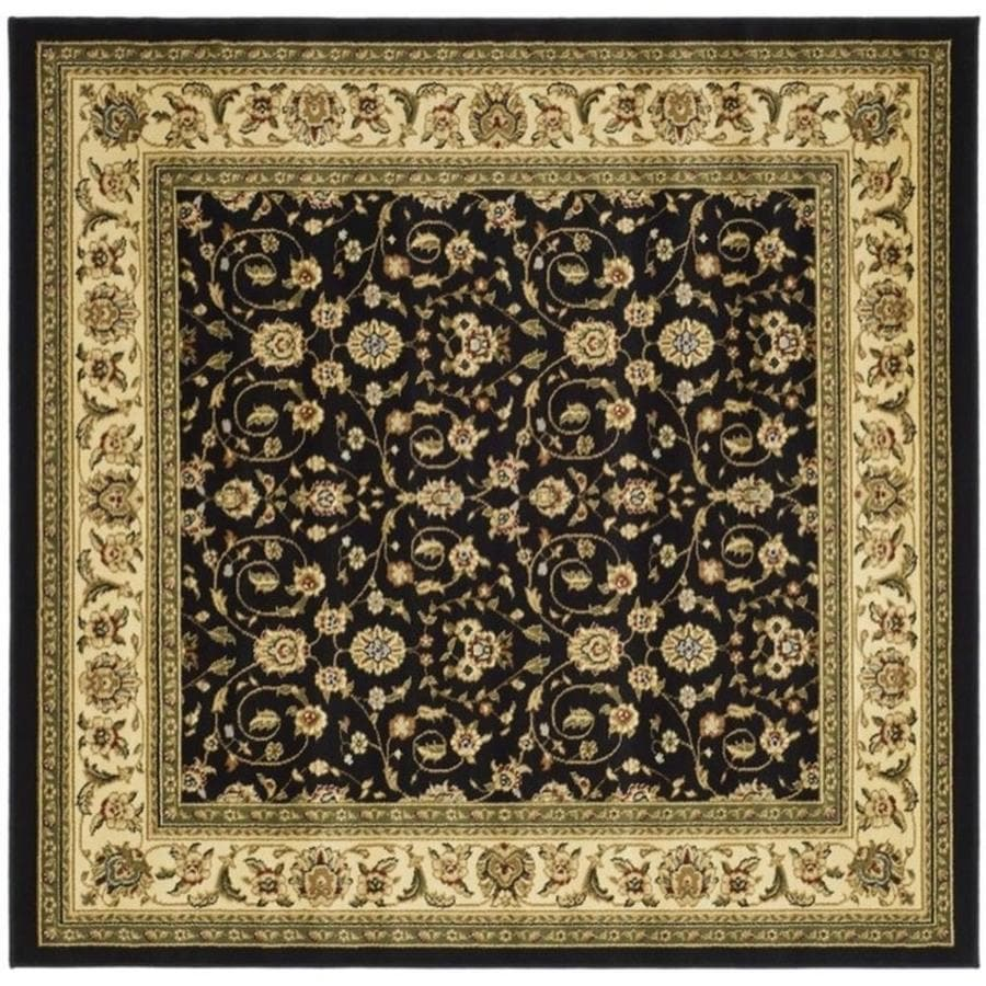 Safavieh Lyndhurst Antoinette Black/Ivory Square Indoor Oriental Area Rug (Common: 8 x 8; Actual: 8-ft W x 8-ft L)