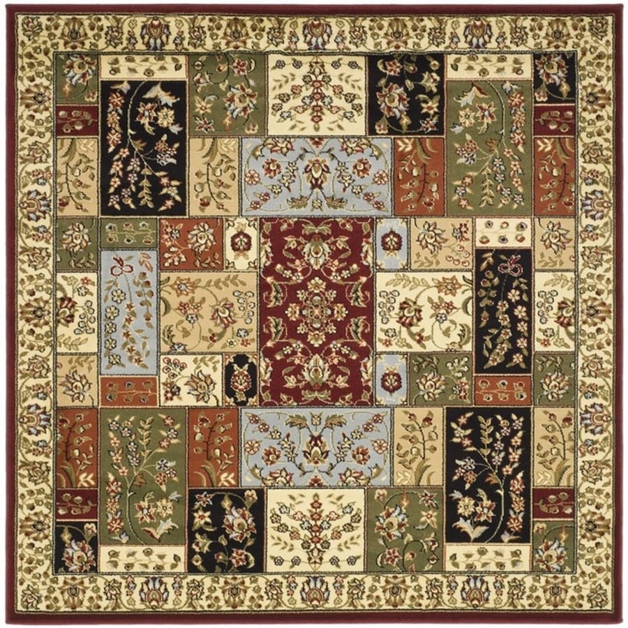 Safavieh Lyndhurst Omni Multi/Ivory Square Indoor Machine-made Oriental Area Rug (Common: 8 x 8; Actual: 8-ft W x 8-ft L)