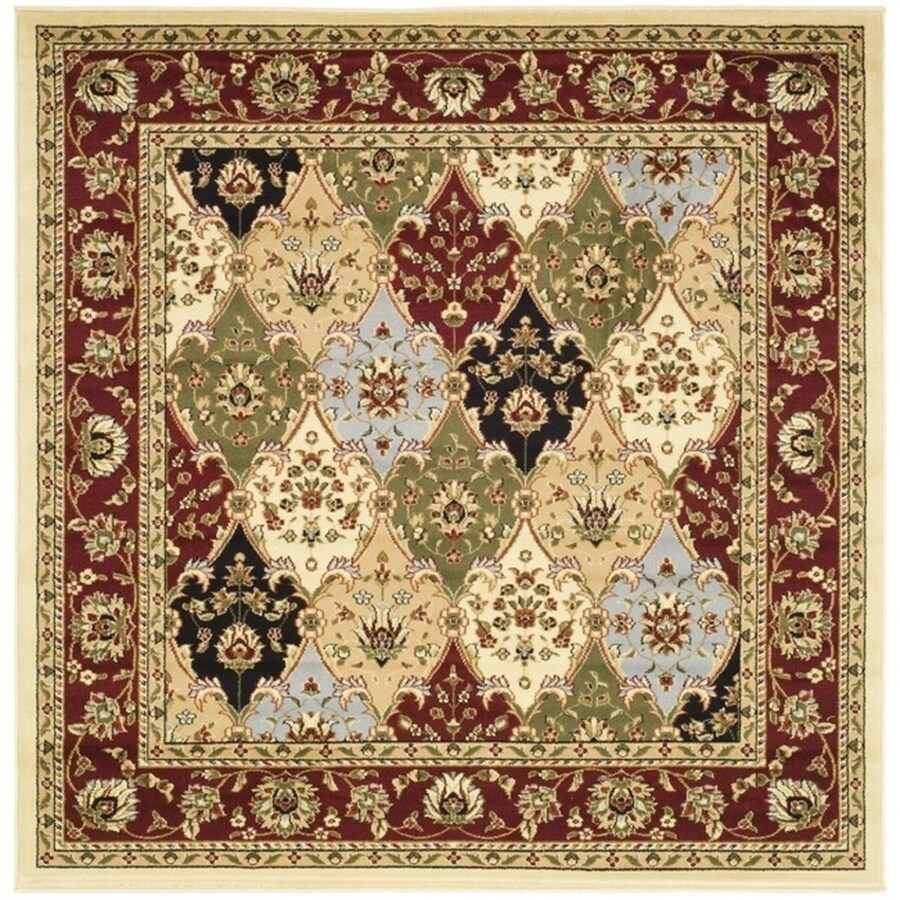 Safavieh Lyndhurst Fusion Red Square Indoor Oriental Area Rug (Common: 6 x 6; Actual: 6-ft W x 6-ft L)
