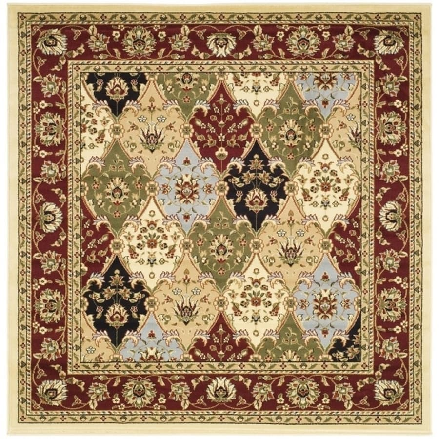 shop safavieh lyndhurst fusion multi red square indoor oriental area rug common 8 x 8 actual. Black Bedroom Furniture Sets. Home Design Ideas