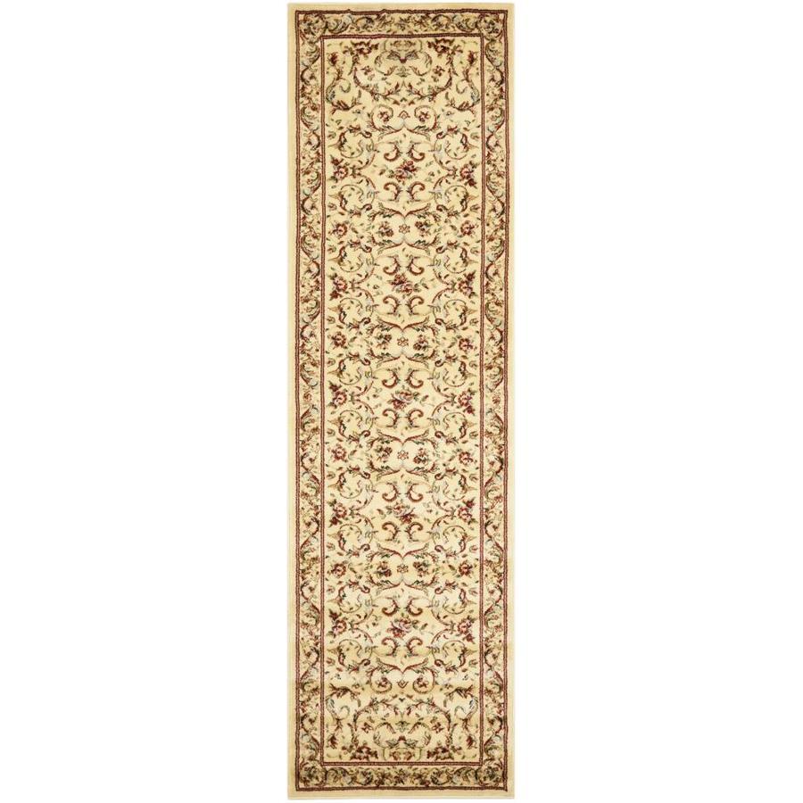 Safavieh Lyndhurst Lyon Ivory/Ivory Rectangular Indoor Machine-made Oriental Runner (Common: 2 x 6; Actual: 2.25-ft W x 6-ft L)