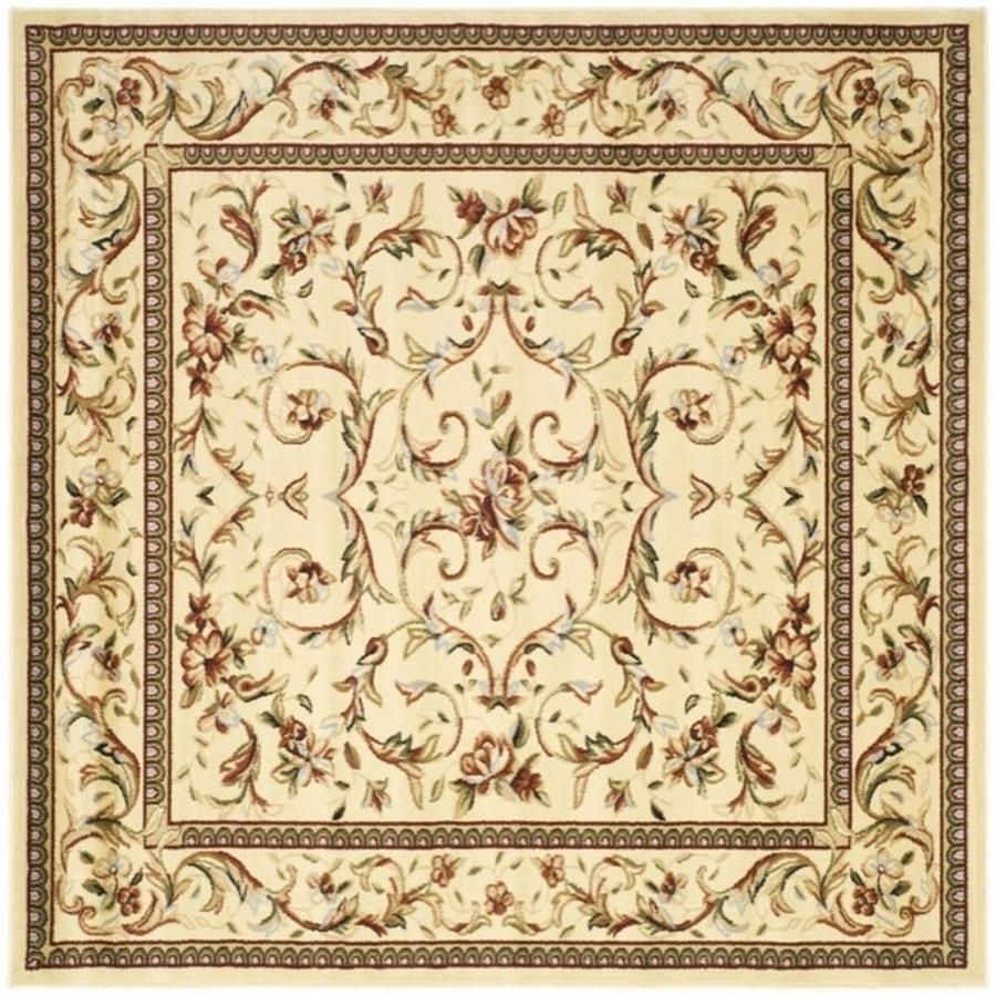 Safavieh Lyndhurst Lyon Ivory Square Indoor Oriental Area Rug Common 8 X
