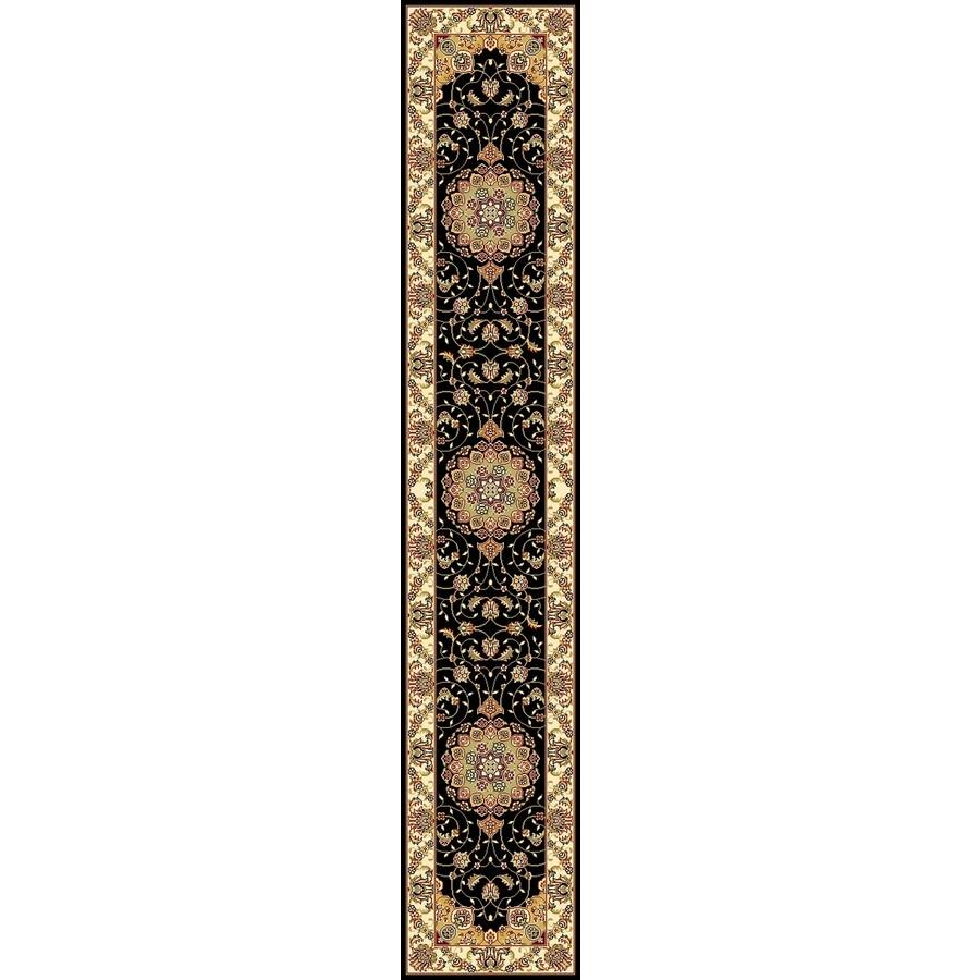 Safavieh Lyndhurst Kerman Black/Ivory Rectangular Indoor Machine-made Oriental Runner (Common: 2 x 22; Actual: 2.25-ft W x 22-ft L)