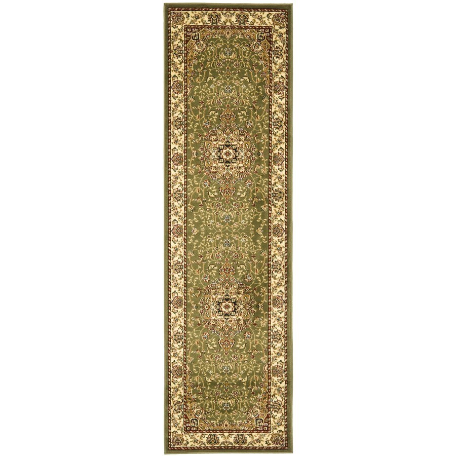 Safavieh Lyndhurst Kerman Sage/Ivory Rectangular Indoor Machine-made Oriental Runner (Common: 2 x 22; Actual: 2.25-ft W x 22-ft L)