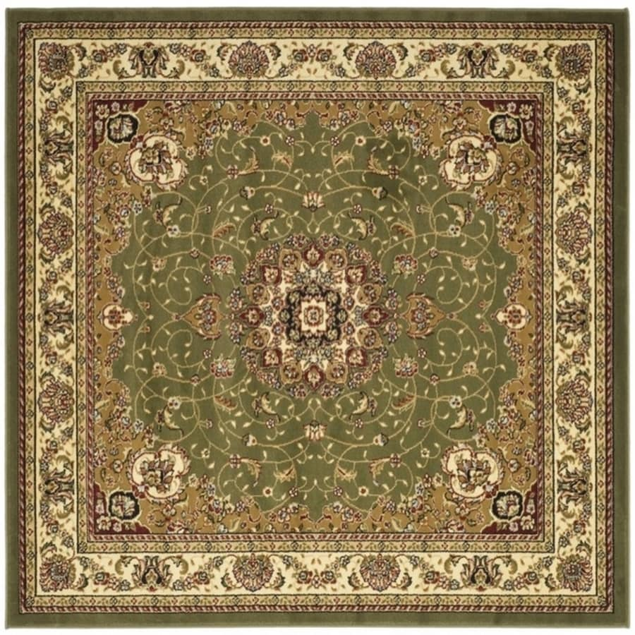 Safavieh Lyndhurst Kerman Sage/Ivory Square Indoor Oriental Area Rug (Common: 6 x 6; Actual: 6-ft W x 6-ft L)