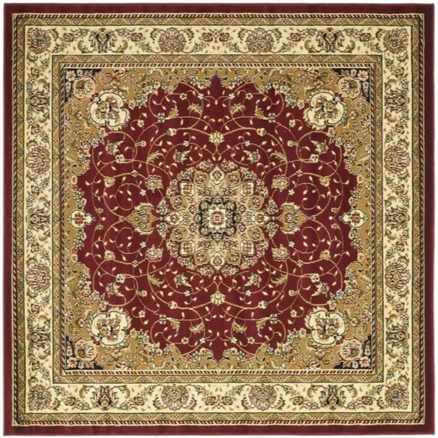 Safavieh Lyndhurst Kerman Red/Ivory Square Indoor Oriental Area Rug (Common: 8 x 8; Actual: 8-ft W x 8-ft L)