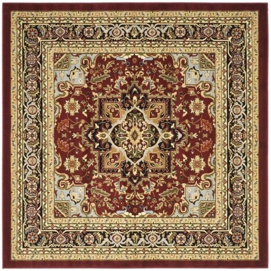 Safavieh Lyndhurst Heriz Red/Black Square Indoor Oriental Area Rug (Common: 8 x 8; Actual: 8-ft W x 8-ft L)