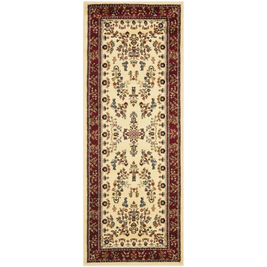Safavieh Lyndhurst Hamadan Ivory/Red Indoor Oriental Runner (Common: 2 x 6; Actual: 2.25-ft W x 6-ft L)