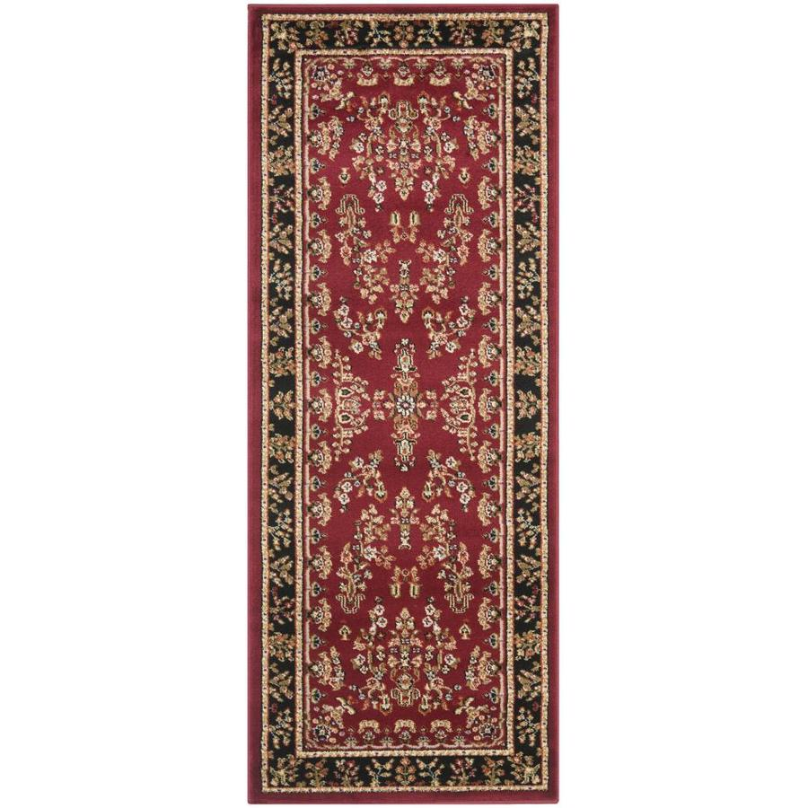 Safavieh Lyndhurst Hamadan Red/Black Indoor Oriental Runner (Common: 2 x 6; Actual: 2.25-ft W x 6-ft L)