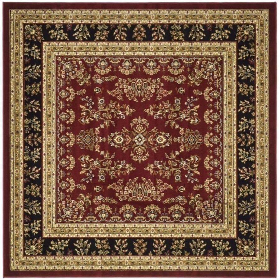 Safavieh Lyndhurst Hamadan Red/Black Square Indoor Oriental Area Rug (Common: 6 x 6; Actual: 6-ft W x 6-ft L)