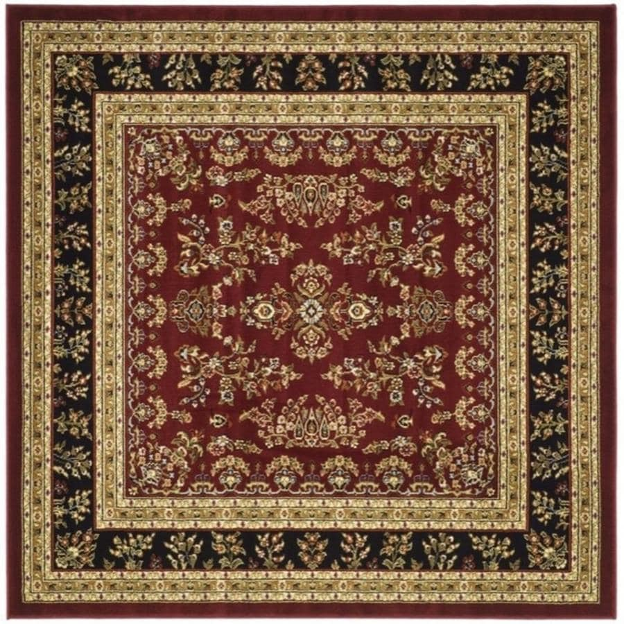 Safavieh Lyndhurst Hamadan Red Black Square Indoor Machine