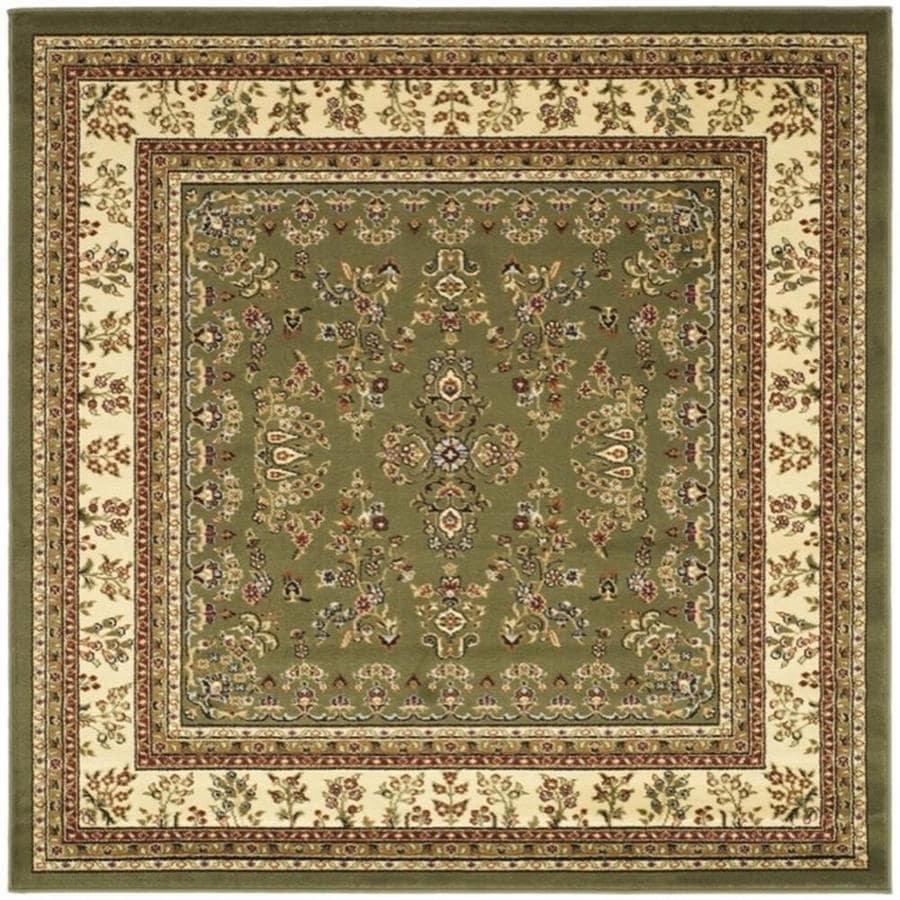 Safavieh Lyndhurst Sage/Ivory Square Indoor Machine-Made Oriental Area Rug (Common: 7.10 x 7.10; Actual: 8-ft W x 8-ft L)
