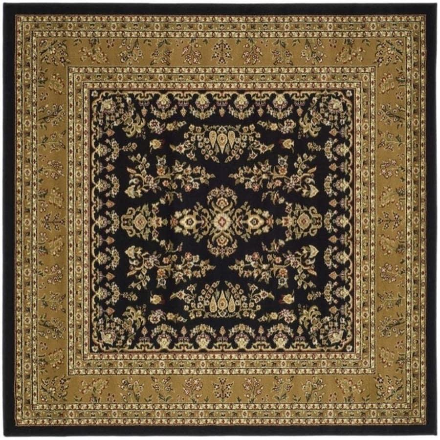 Safavieh Lyndhurst Hamadan Black/Tan Square Indoor Machine-made Oriental Area Rug (Common: 8 x 8; Actual: 8-ft W x 8-ft L)