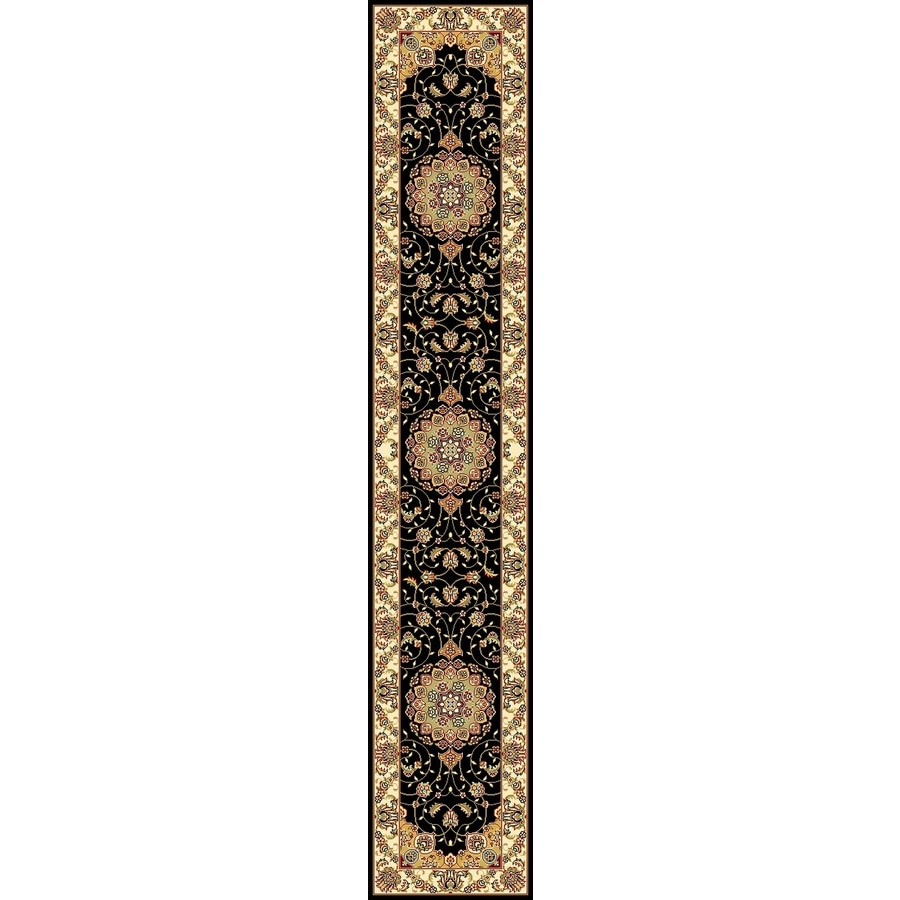 Safavieh Lyndhurst Kerman Black/Ivory Indoor Oriental Runner (Common: 2 x 16; Actual: 2.25-ft W x 16-ft L)