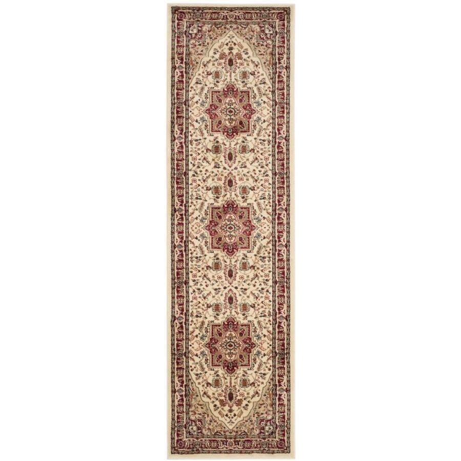 Safavieh Lyndhurst Heriz Ivory/Red Indoor Oriental Runner (Common: 2 x 16; Actual: 2.25-ft W x 16-ft L)