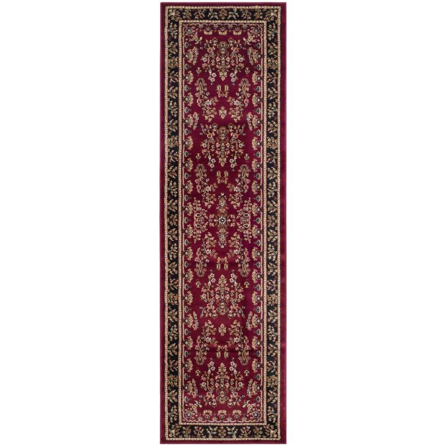 Safavieh Lyndhurst Hamadan Red/Black Rectangular Indoor Machine-made Oriental Runner (Common: 2 x 16; Actual: 2.25-ft W x 16-ft L)