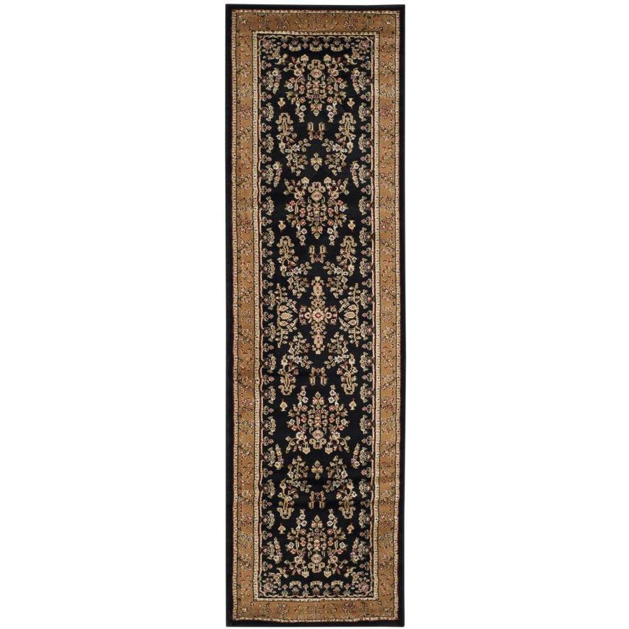 Safavieh Lyndhurst Hamadan Black/Tan Indoor Oriental Runner (Common: 2 x 16; Actual: 2.25-ft W x 16-ft L)