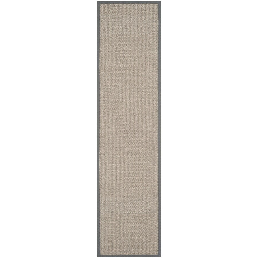 Safavieh Natural Fiber Atlantique Gray Brown/Gray Indoor Coastal Runner (Common: 2 x 20; Actual: 2.5-ft W x 20-ft L)