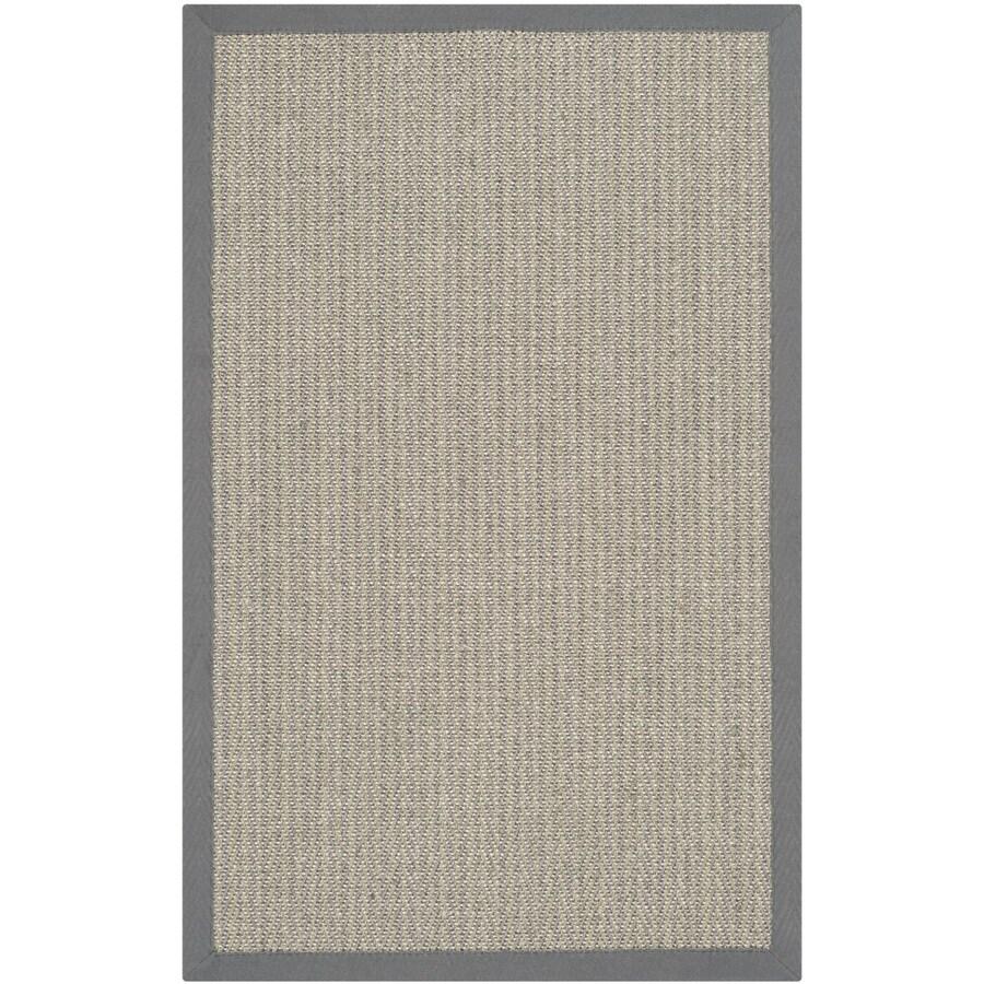 Safavieh Natural Fiber Atlantique Gray Brown/Gray Indoor Coastal Throw Rug (Common: 2 x 4; Actual: 2.5-ft W x 4-ft L)
