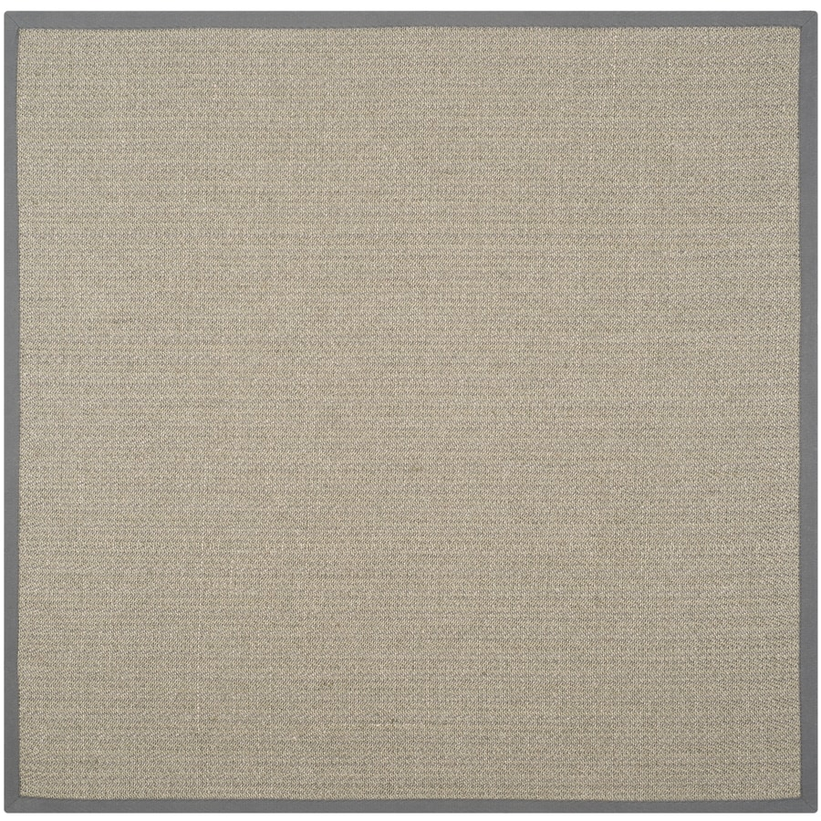 Safavieh Natural Fiber Atlantique Gray Brown/Gray Square Indoor Machine-made Coastal Area Rug (Common: 6 x 6; Actual: 6-ft W x 6-ft L)