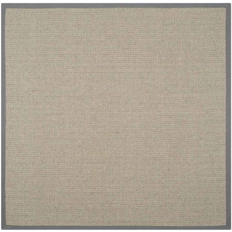 Safavieh Natural Fiber Atlantique Gray Brown/Gray Square Indoor Coastal Area Rug (Common: 8 x 8; Actual: 8-ft W x 8-ft L)