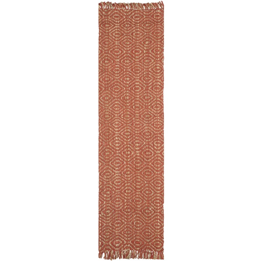Safavieh Natural Fiber Dunewood Rust Indoor Coastal Runner (Common: 2 x 20; Actual: 2.5-ft W x 20-ft L)