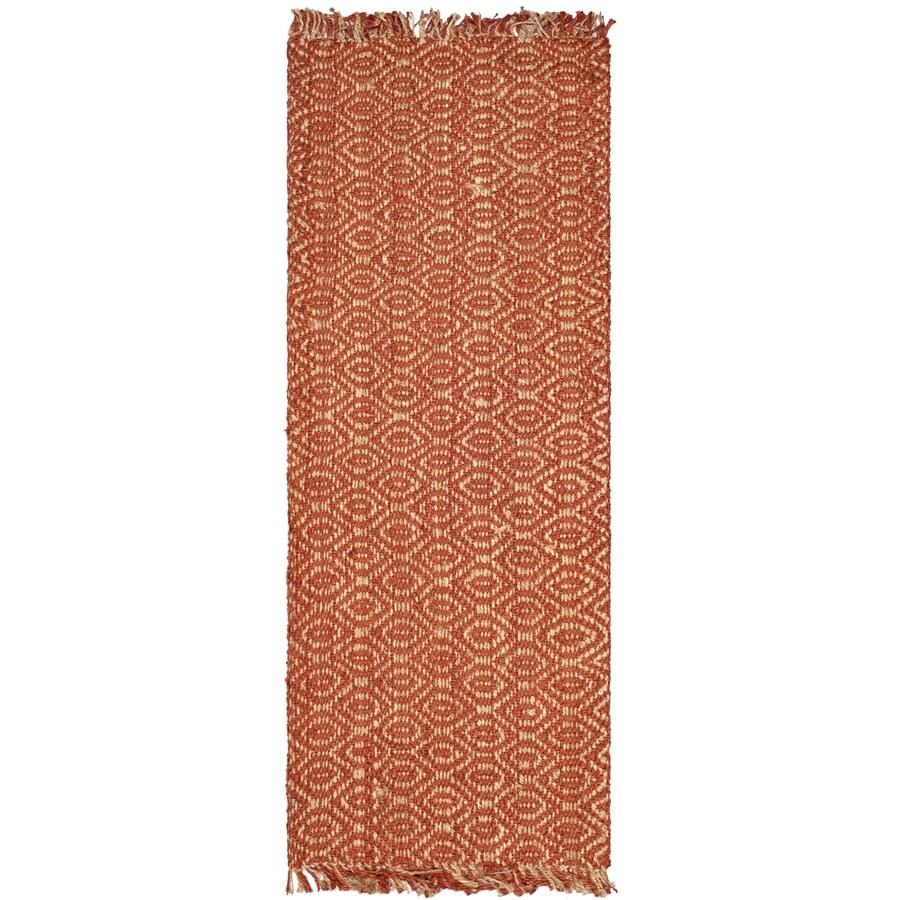 Safavieh Natural Fiber Dunewood Rust Indoor Coastal Runner (Common: 2 x 6; Actual: 2.5-ft W x 6-ft L)