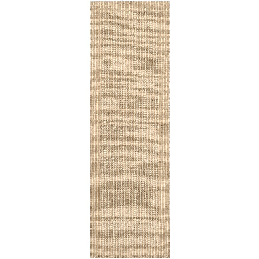 Safavieh Natural Fiber Suffolk Ivory/Beige Indoor Handcrafted Coastal Throw Rug (Common: 3 x 6; Actual: 2.5-ft W x 6-ft L)