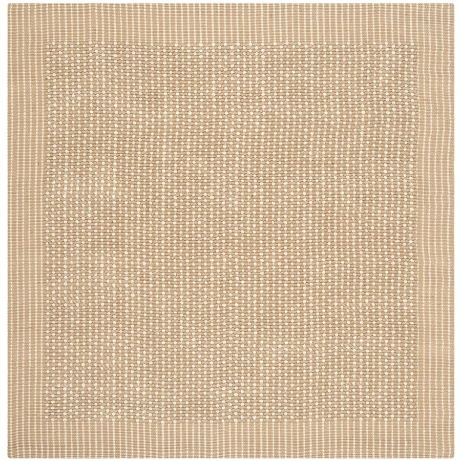 Safavieh Natural Fiber Suffolk Ivory/Beige Square Indoor Handcrafted Coastal Area Rug (Common: 6 x 6; Actual: 6-ft W x 6-ft L x)