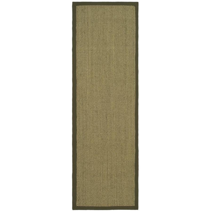Safavieh Natural Fiber Kismet Natural/Green Indoor Coastal Runner (Common: 2 x 12; Actual: 2.5-ft W x 12-ft L)