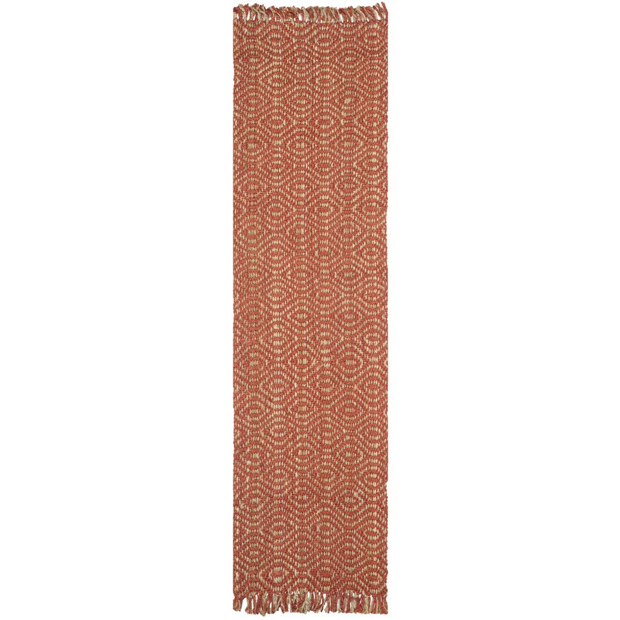 Safavieh Natural Fiber Dunewood Rust Indoor Coastal Runner (Common: 2 x 10; Actual: 2.5-ft W x 10-ft L)