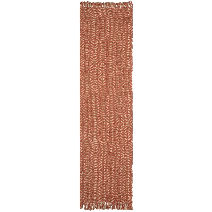 Safavieh Natural Fiber Dunewood Rust Rectangular Indoor Machine-made Coastal Runner (Common: 2 x 14; Actual: 2.5-ft W x 14-ft L)