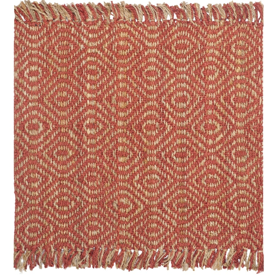 Safavieh Natural Fiber Dunewood Rust Square Indoor Coastal Area Rug (Common: 6 x 6; Actual: 6-ft W x 6-ft L)
