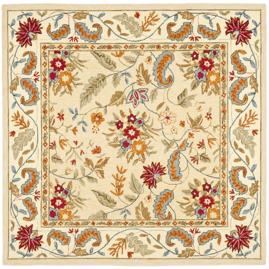 Safavieh Chelsea Spring Ivory Square Indoor Handcrafted Lodge Area Rug (Common: 6 x 6; Actual: 6-ft W x 6-ft L)