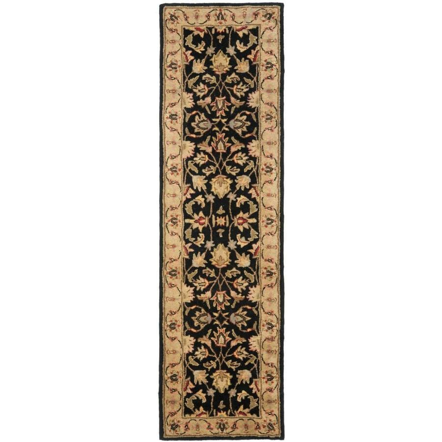 Safavieh Heritage Dymak Black/Gold Indoor Handcrafted Runner (Common: 2 x 14; Actual: 2.25-ft W x 14-ft L)