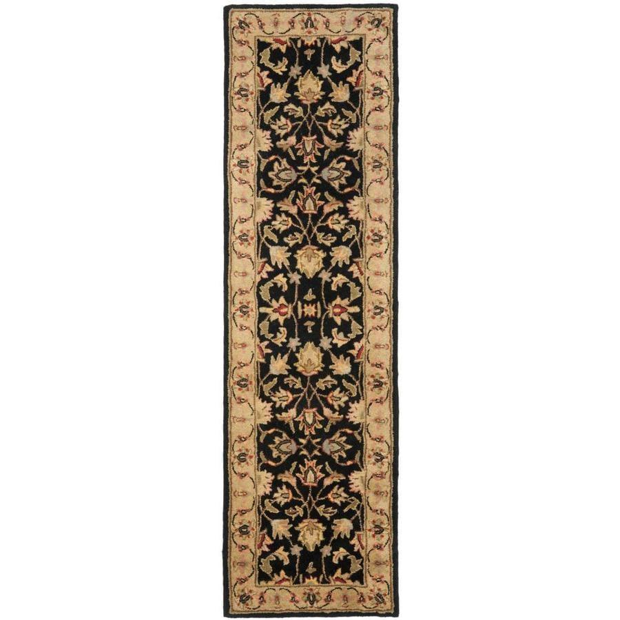 Safavieh Heritage Dymak Black/Gold Rectangular Indoor Handcrafted Runner (Common: 2 x 16; Actual: 2.25-ft W x 16-ft L)