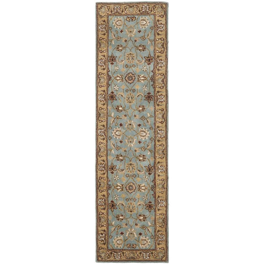 Safavieh Heritage Tekke Blue/Gold Indoor Handcrafted Oriental Runner (Common: 2 x 10; Actual: 2.25-ft W x 10-ft L)