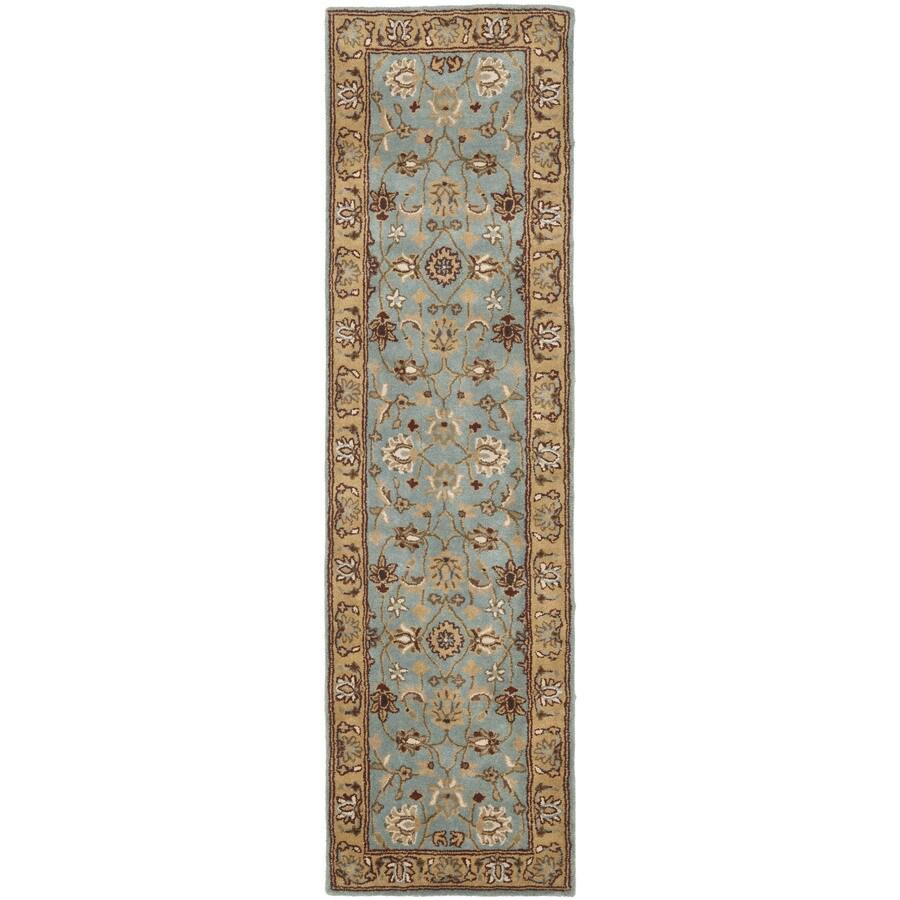 Safavieh Heritage Tekke Blue/Gold Indoor Handcrafted Oriental Runner (Common: 2 x 12; Actual: 2.25-ft W x 12-ft L)