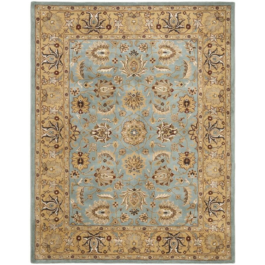 Safavieh Heritage Tekke Blue/Gold Rectangular Indoor Handcrafted Oriental Area Rug (Common: 6 x 9; Actual: 7.5-ft W x 9.5-ft L)