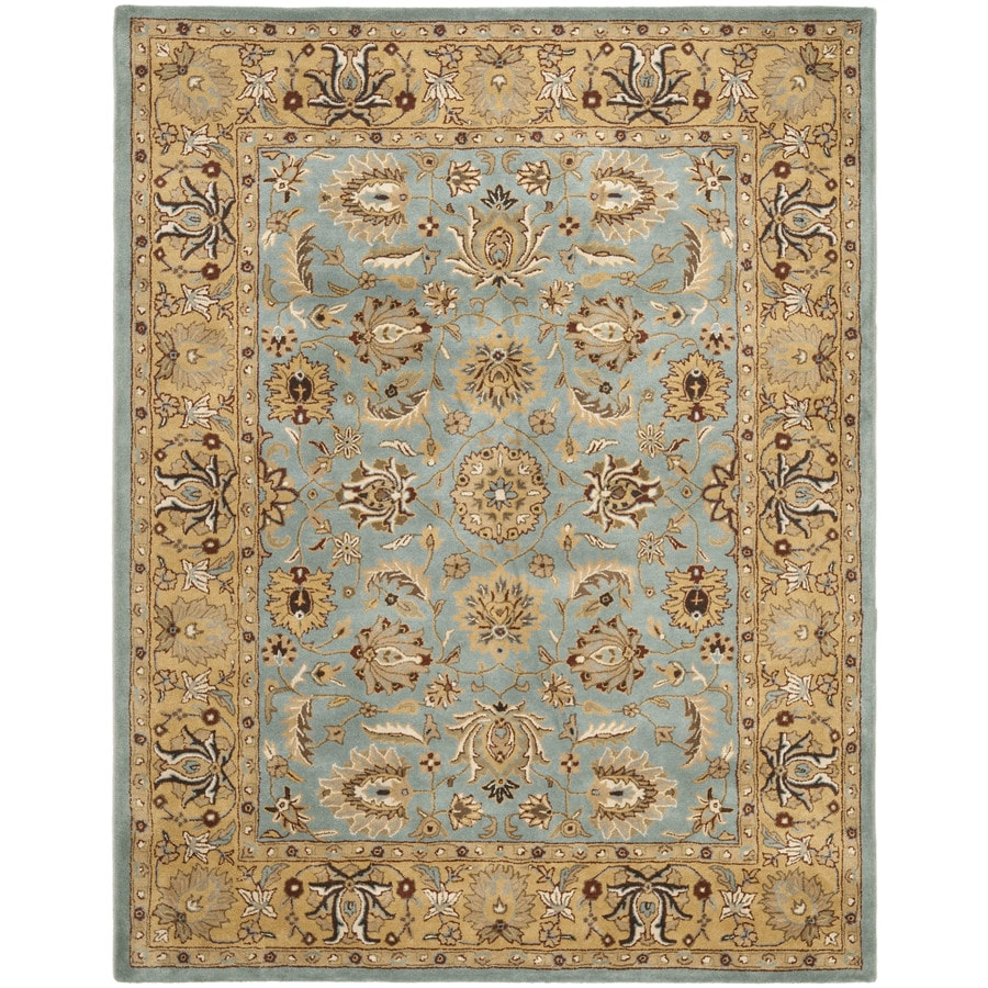 Safavieh Heritage Tekke Blue/Gold Indoor Handcrafted Oriental Area Rug (Common: 8 x 10; Actual: 7.5-ft W x 9.5-ft L)