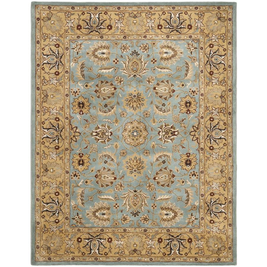 Safavieh Heritage Tekke Blue/Gold Indoor Handcrafted Oriental Area Rug (Common: 8 x 11; Actual: 8.25-ft W x 11-ft L)