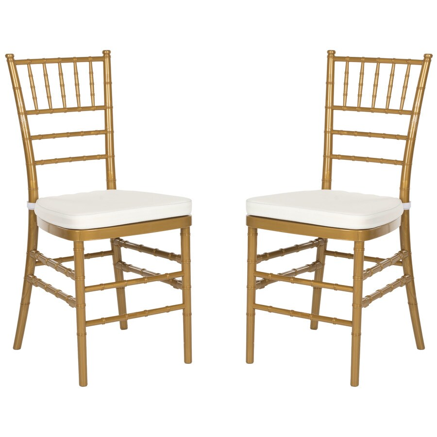 Safavieh Set of 2 Fox Gold Side Chairs