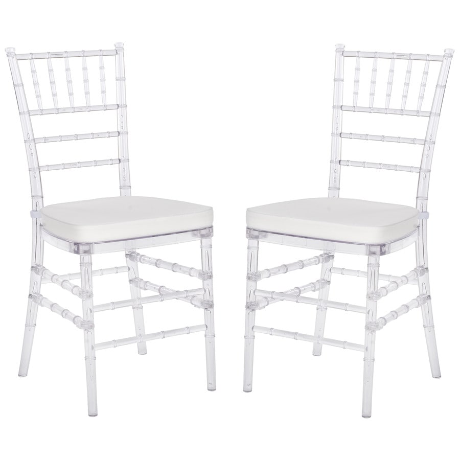 Safavieh Set of 2 Clear Contemporary Side Chairs