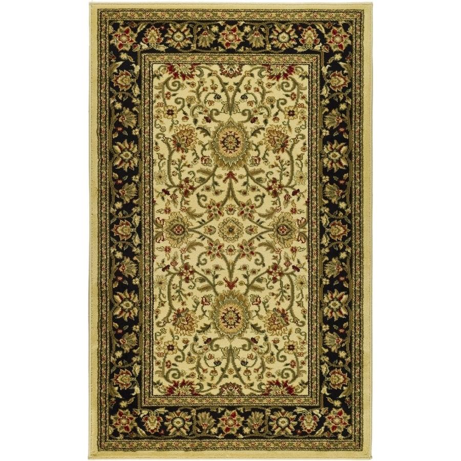 Safavieh Lyndhurst Sarouk Ivory/Black Indoor Oriental Runner (Common: 2 x 6; Actual: 2.25-ft W x 6-ft L)